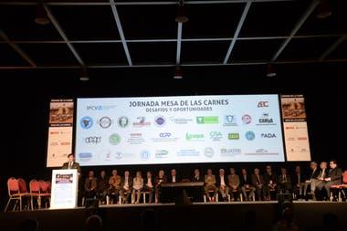 La Mesa de las Carnes en su jornada en el marco de la Exposición Rural de Palermo