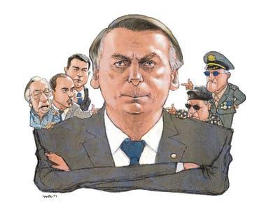 Resultado de imagen para bolsonaro y sus ministros militares