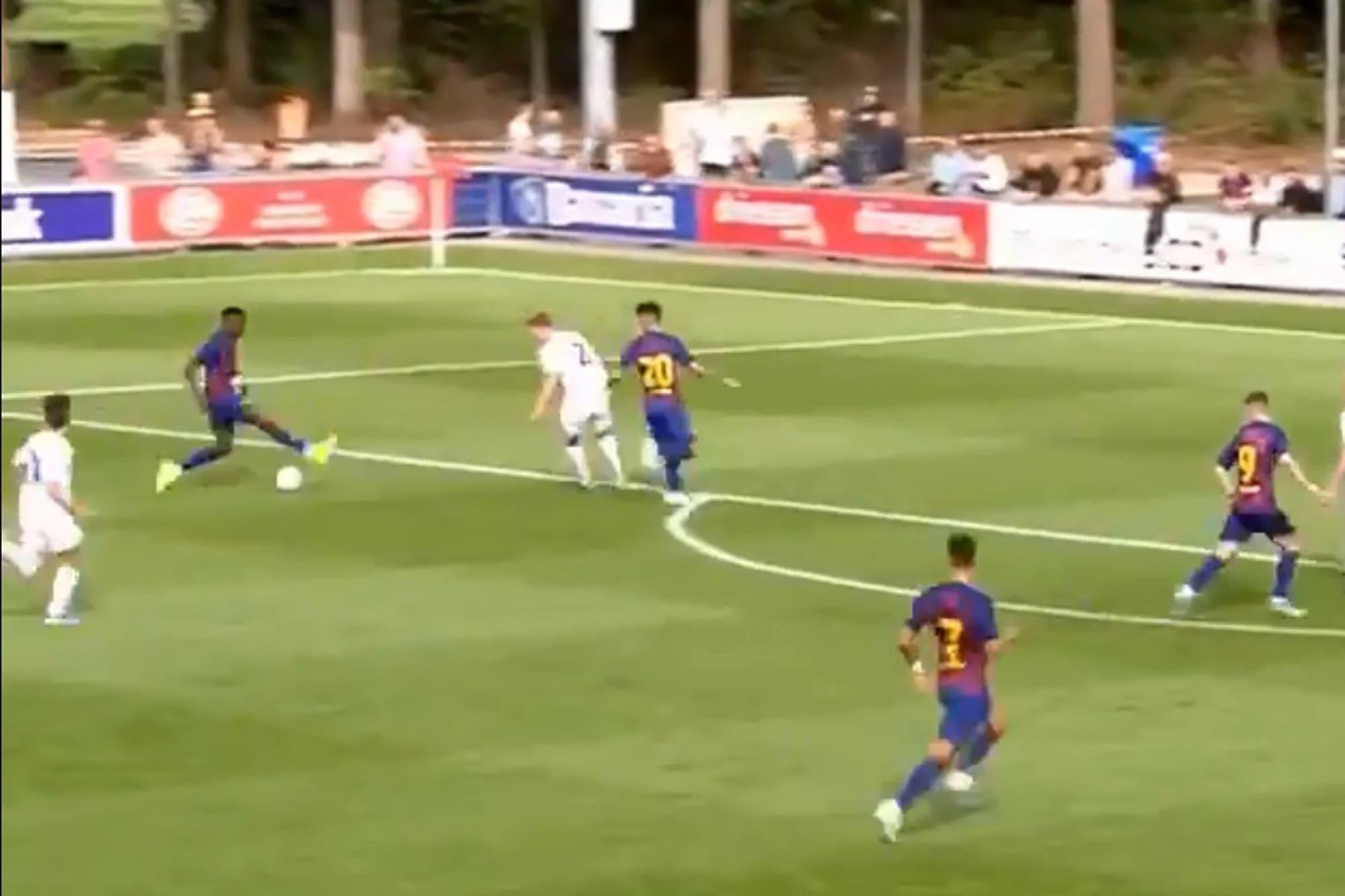 La increíble jugada de gol de la joya de 16 años que Barcelona blindó con 100 millones de euros