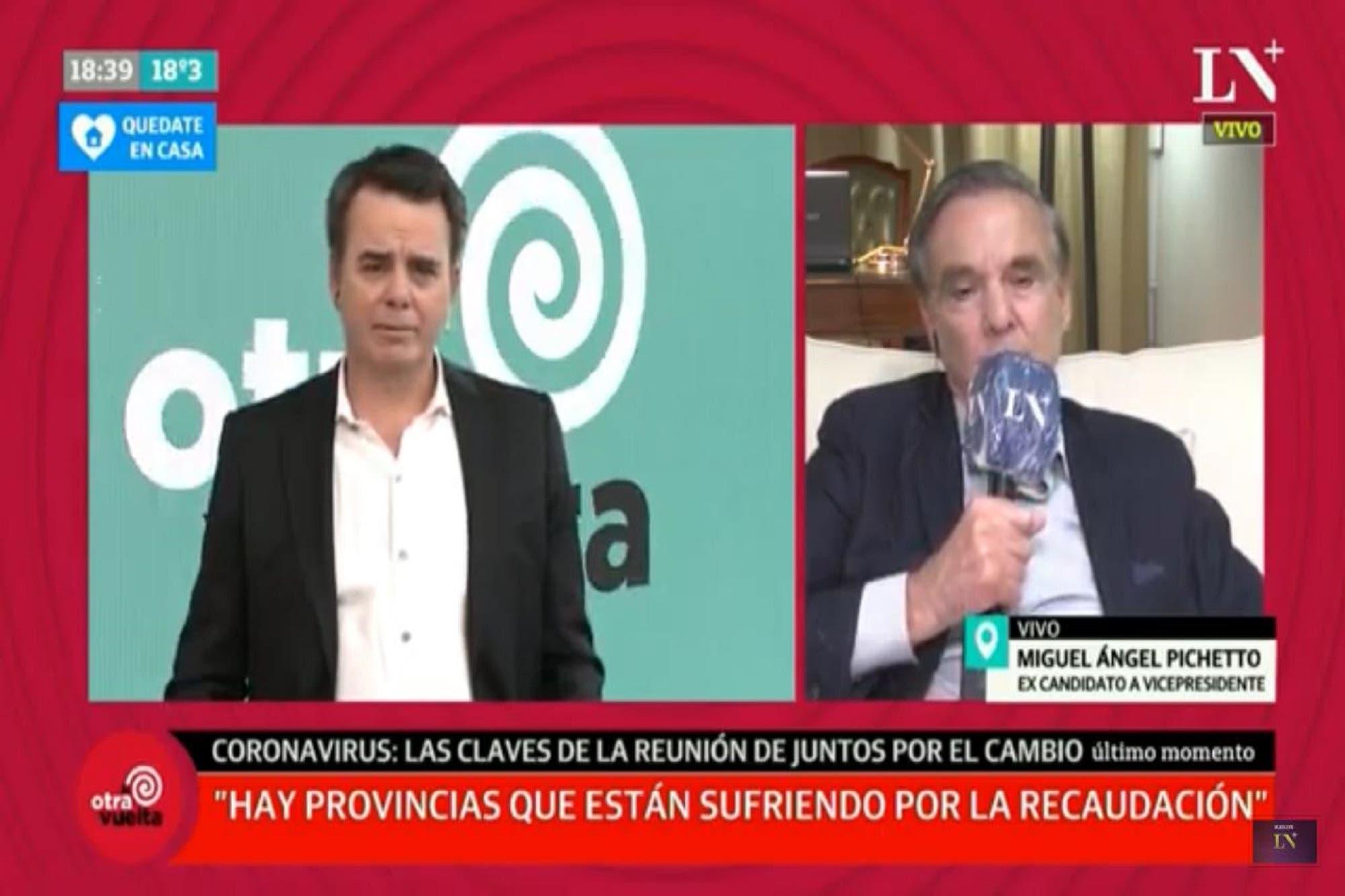 """Miguel Ángel Pichetto: """"Hace falta un ministro de Economía con envergadura"""""""