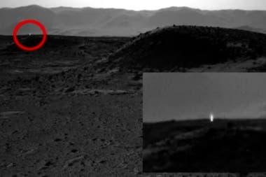 Una extraña luz registrada en una expedición a Marte