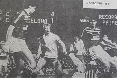 Una noche inolvidable para Zappia: 4-1 a Barcelona con Metz en la Recopa de Europa 1984/85