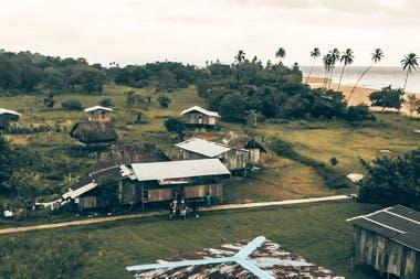 Pescadores de unas de las islas del archipiélago Bocas del Toro