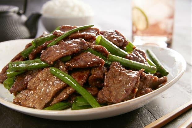 Receta de Salteado de carne estilo mongol