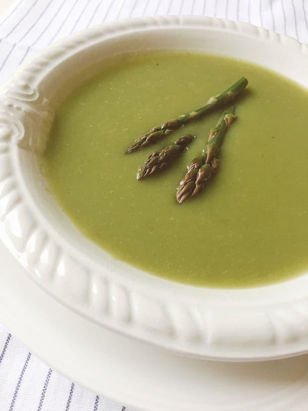 Receta de Sopa de espárragos verdes