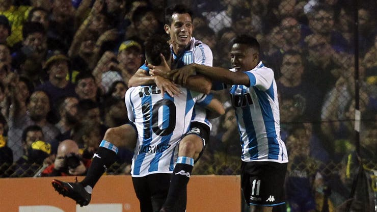 Boca-Racing, Superliga: gol de Solari