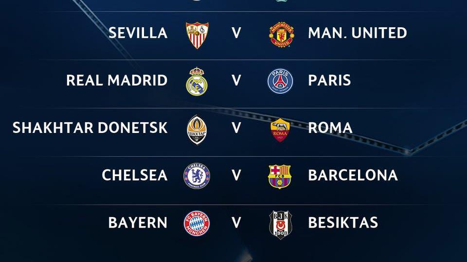 As quedaron los octavos de final de la champions league for Cuartos dela champions 2014