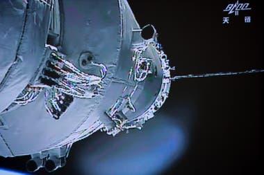 Fotografía tomada en junio de 2013 del módulo Tiangong-1 en órbita