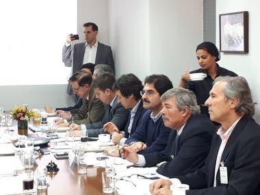 Los funcionarios argentinos en San Pablo, Brasil