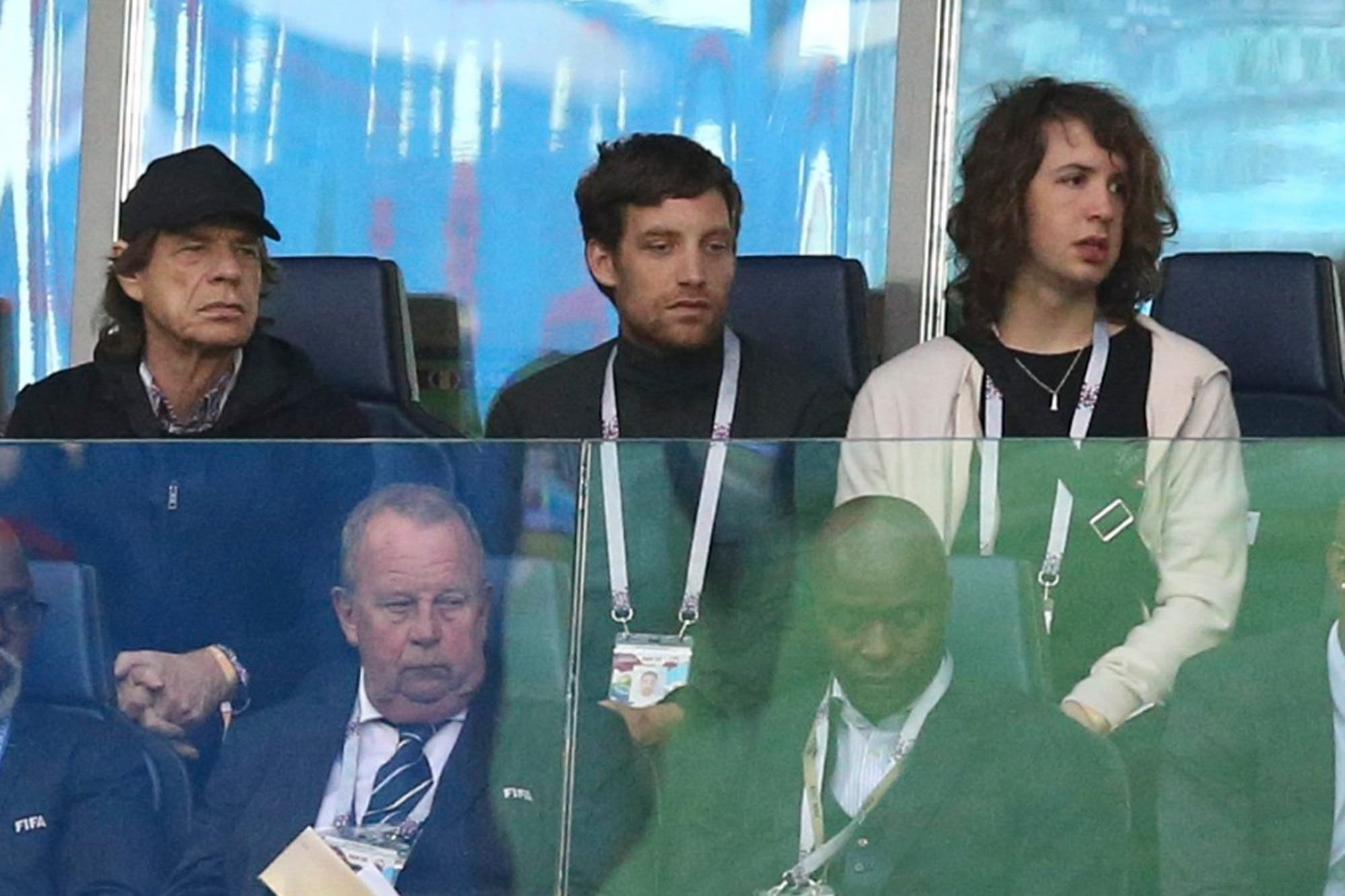 Mick Jagger, espectador de lujo en el partido que marcó la victoria de Francia frente a Bélgica