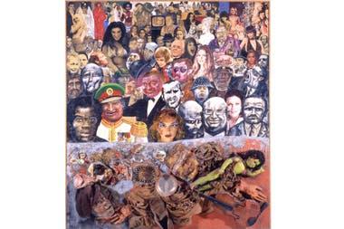 La mayoría silenciosa, Antonio Berni, 1972