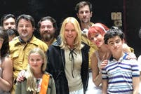 Valeria Mazza asistió a ver el musical Billy Elliot en Madrid