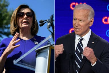 Nancy Pelosi y Joe Biden