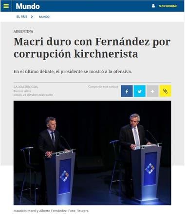 El diario uruguayo remarcó la ofensiva de Macri y el cruce por la corrupción y la mención a la familia del presidente