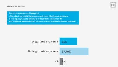 El 35% de los encuestados avala separar a Mendoza del país