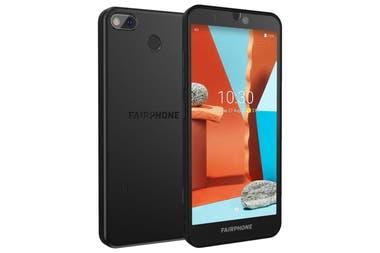 Un Fairphone 3+; su diseño permite que el usuario pueda reemplazar o actualizar partes como la cámara o la pantalla con un destornillador