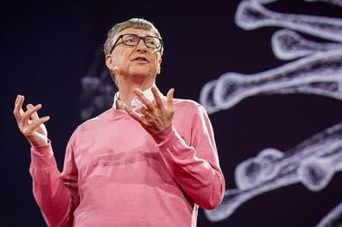 PROTAGONISMO. En una charla TED de 2015, Bill Gates , creador de Microsoft, alertó sobre la posibilidad de una pandemia