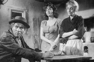 Isabel Sarli junto a Jardel Filho y Blanca Lagrotta, en una escena de Setenta veces siete (1962)