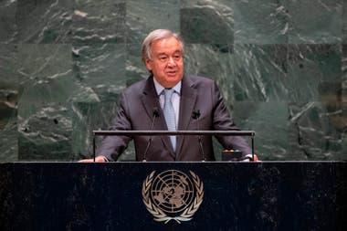 El secretario general de la ONU, Antonio Guterres, es otro de los nombres que suenan para el Nobel de la Paz