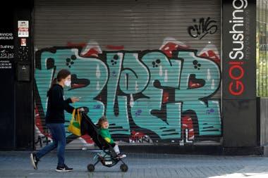 Una calle de Barcelona, durante la pandemia por coronavirus