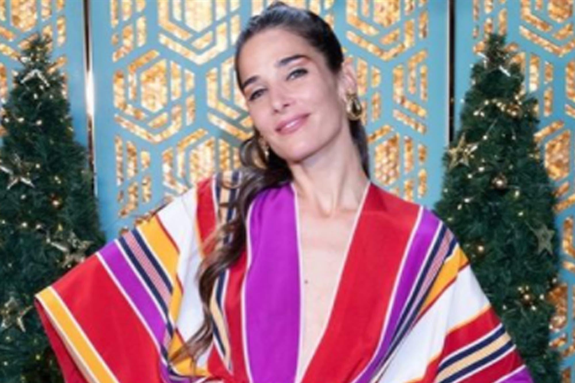 """Almorzando con Mirtha Legrand: Juana Viale sorprendió con un colorido """"vestido túnica"""" y casi se accidenta"""