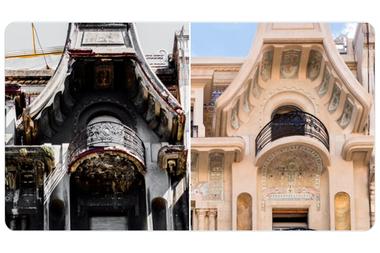 El antes y después de las ornamentación de los balcones