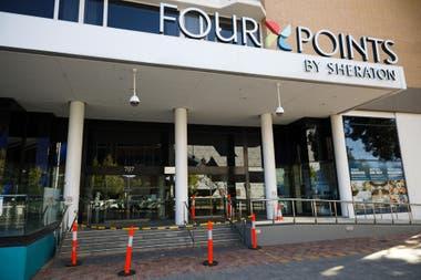 El hotel Four Points, en Perth, que se usaba para mantener a la gente en cuarentena