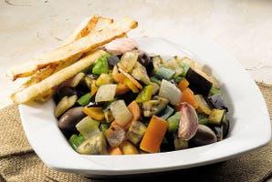 Focaccia con vegetales