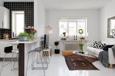 Soluci n 394 ideas para decorar un living con cocina for Ideas para decorar un apartamento moderno