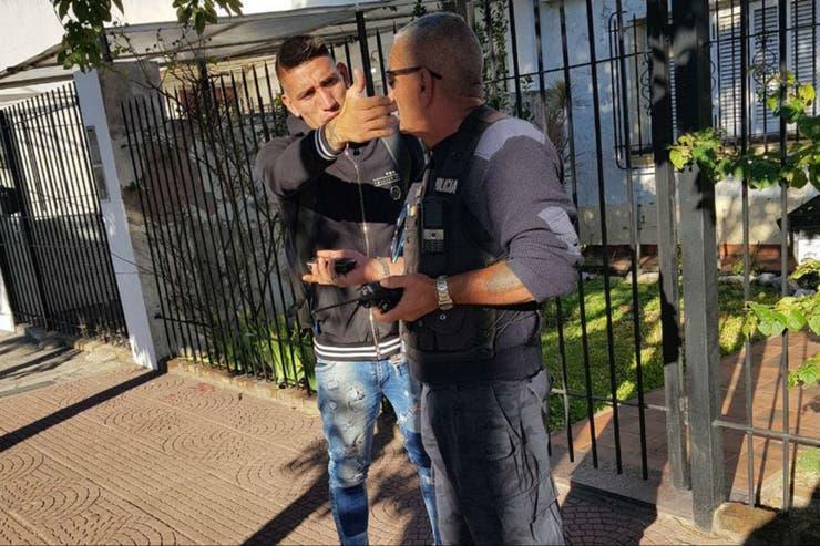 Ricardo Centurión este lunes durante el control policial