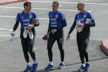 Guzmán, Armani y Caballero; el de River tendrá la oportunidad de debutar en la selección y en un Mundial ante Nigeria