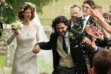 Kit Harington y Rose Leslie, los actores de Game of Thrones llevaron su amor a la vida real