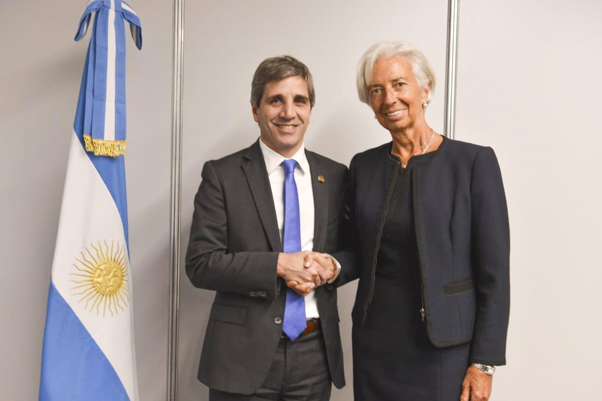 Christine Lagarde en Argentina: se reunió con Luis Caputo y cenará con Mauricio Macri