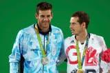 El podio de los Juegos Olímpicos 2016 con la medalla de plata de Delpo y el oro de Murray