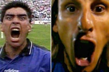 Beccacece festejó un gol como Maradona en el Mundial de 1994