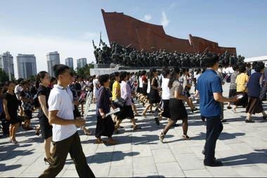 Es infrecuente ver extranjeros occidentales en Pyongyang