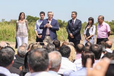 Alberto Fernández, durante una visita a Chaco