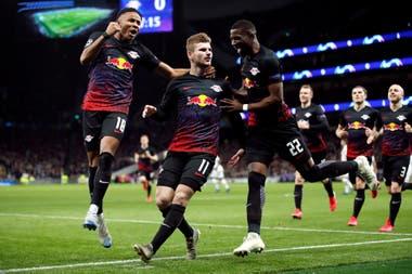 En octavos de final, Leipzig dejó en el camino a Tottenham con un 4-0 en el global.