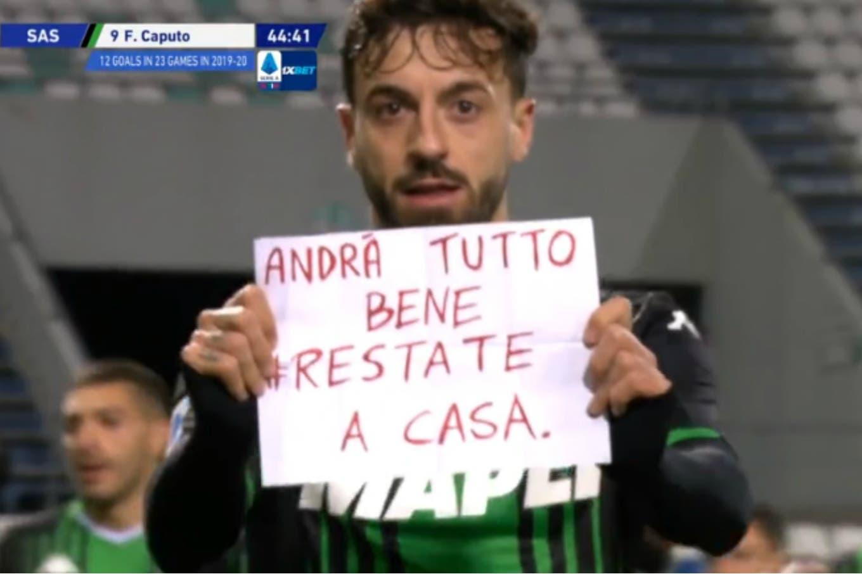 Coronavirus. El último partido en la Serie A de Italia y el mensaje de un jugador de Sassuolo