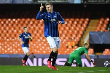 Ilicic el día que le marcó cuatro goles a Valencia como visitante, el 10 de marzo, en la victoria 4-3 del conjunto italiano.