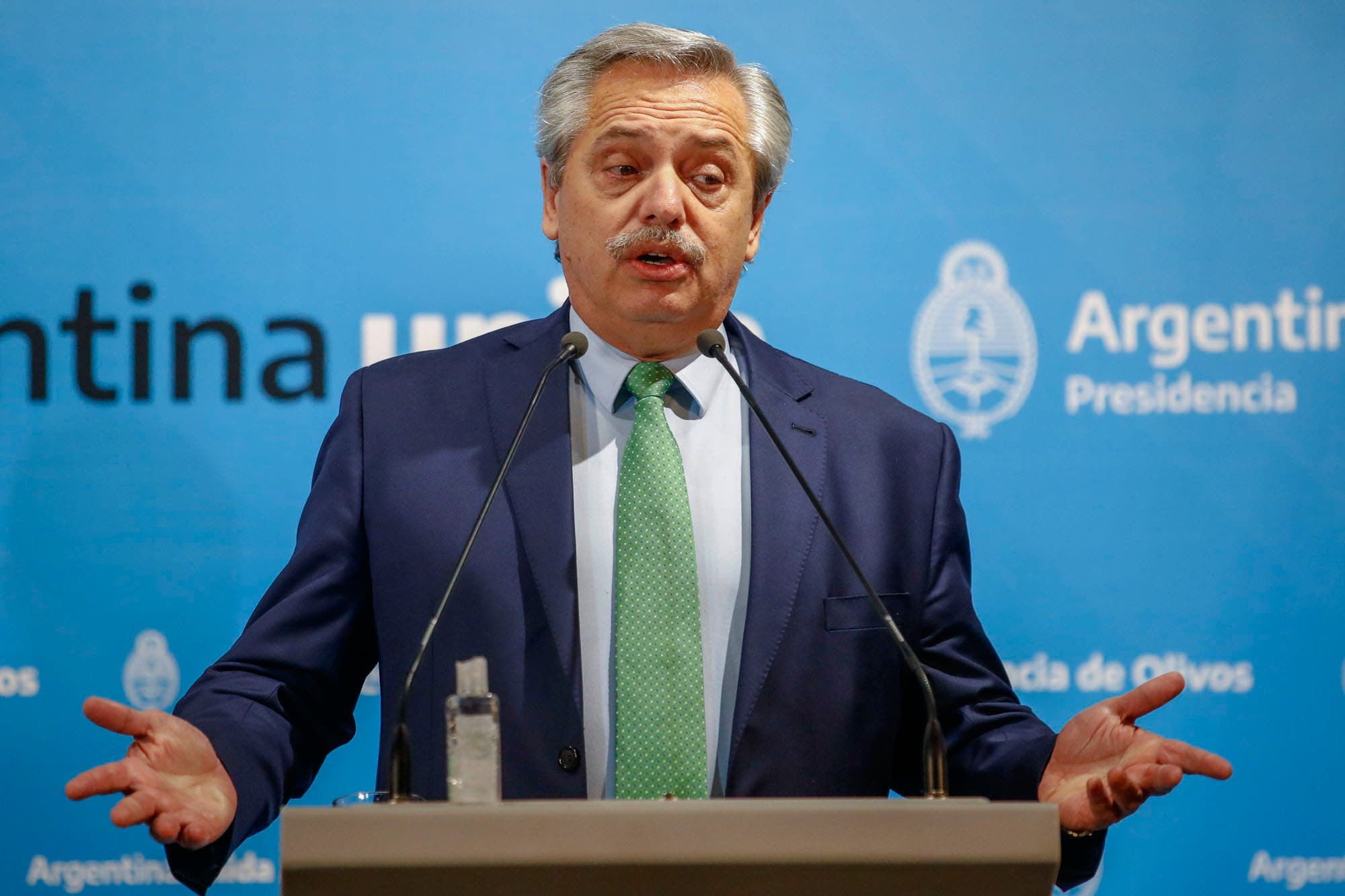 """Coronavirus en la Argentina. Alberto Fernández, sobre la cuarentena: """"Hay una clase dirigente que habla con mucha liviandad"""""""