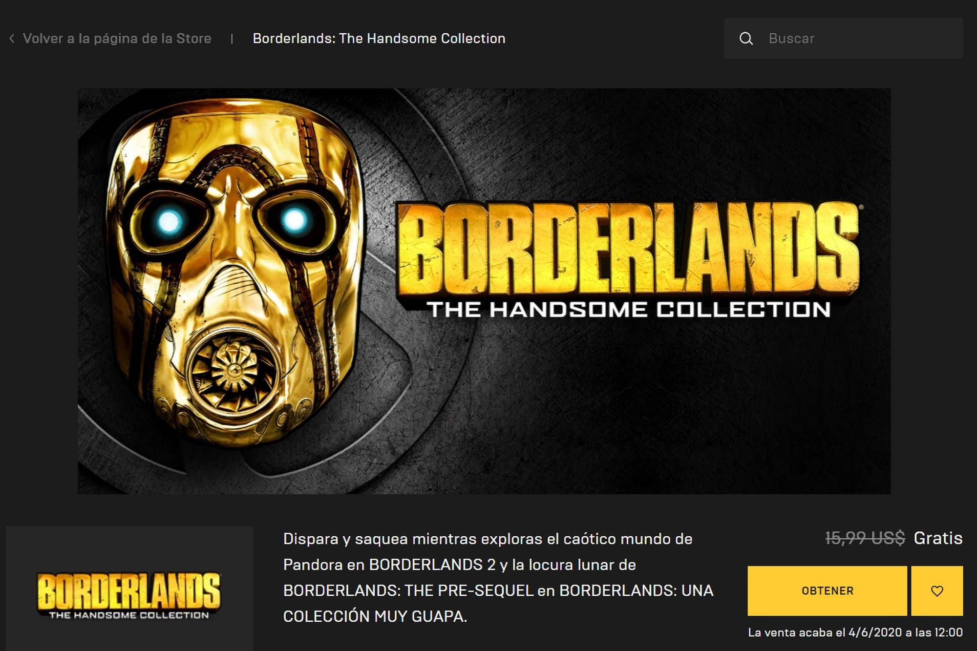 Gratis en Epic Games: cómo descargar Borderlands The Handsome Collection