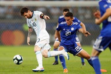 Messi marcó cinco goles en los cuatro partidos que disputó ante Paraguay