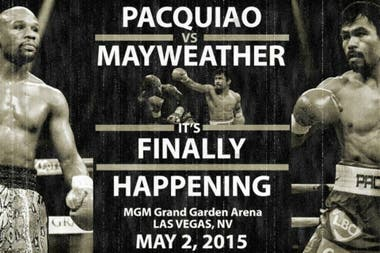 Imagen promocional de la pelea Mayweather Jr. vs Pacquiao