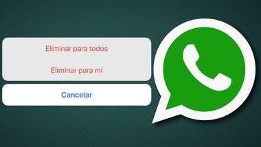 Resultado de imagen para whatsapp eliminar mensajes