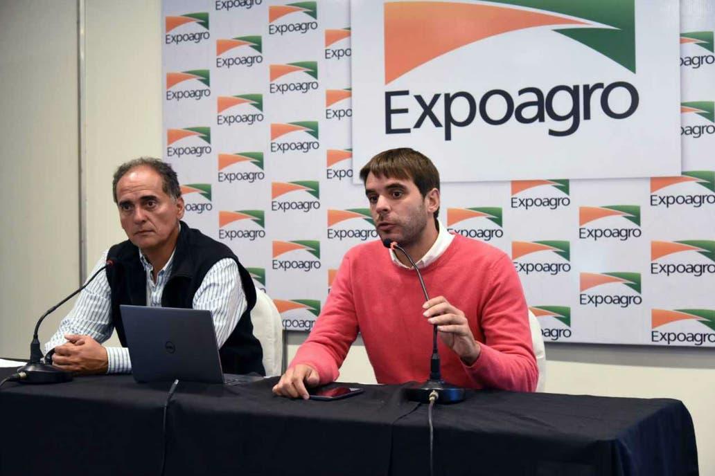 Rodrigo Ramírez,gerente general de Expoagro, y el intedente de San Nicolás Manuel Passaglia hicieron un balance de la muestra