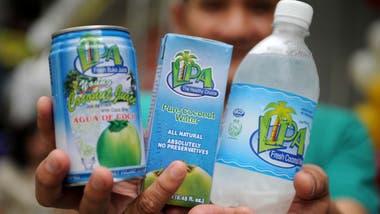 Fresca agua de coco.