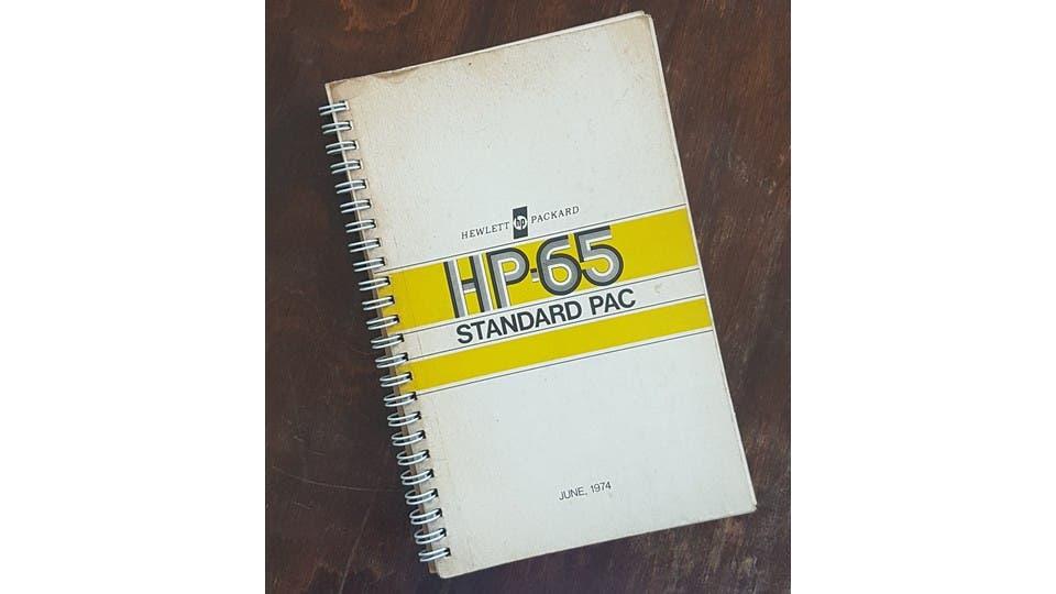 Manual de programación de la HP-65 con la que hice mis primeros palotes de código. Nótese, por favor, la fecha