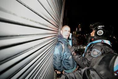 Algunos de los detenidos tras los incidentes en las inmediaciones del Congreso