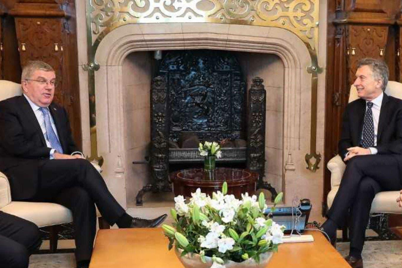 El presidente del COI felicitó a Mauricio Macri por la preparación de los Juegos Olímpicos de la Juventud